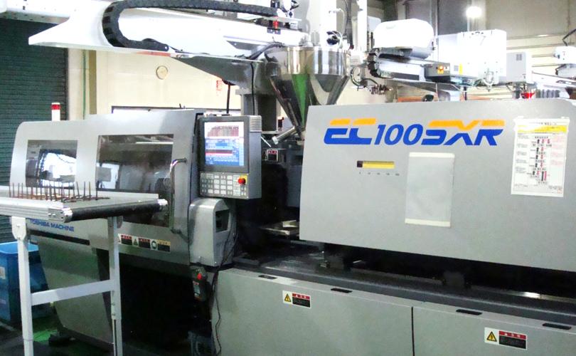 ▲最新鋭熱硬化性 電動射出成形機